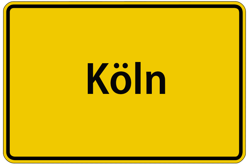 Köln Stadtschild