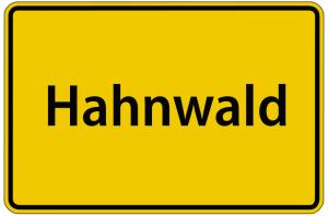 Köln-Hahnwald Stadtschild