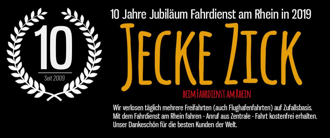 Jecke Zick Aktion Fahrdienst am Rhein